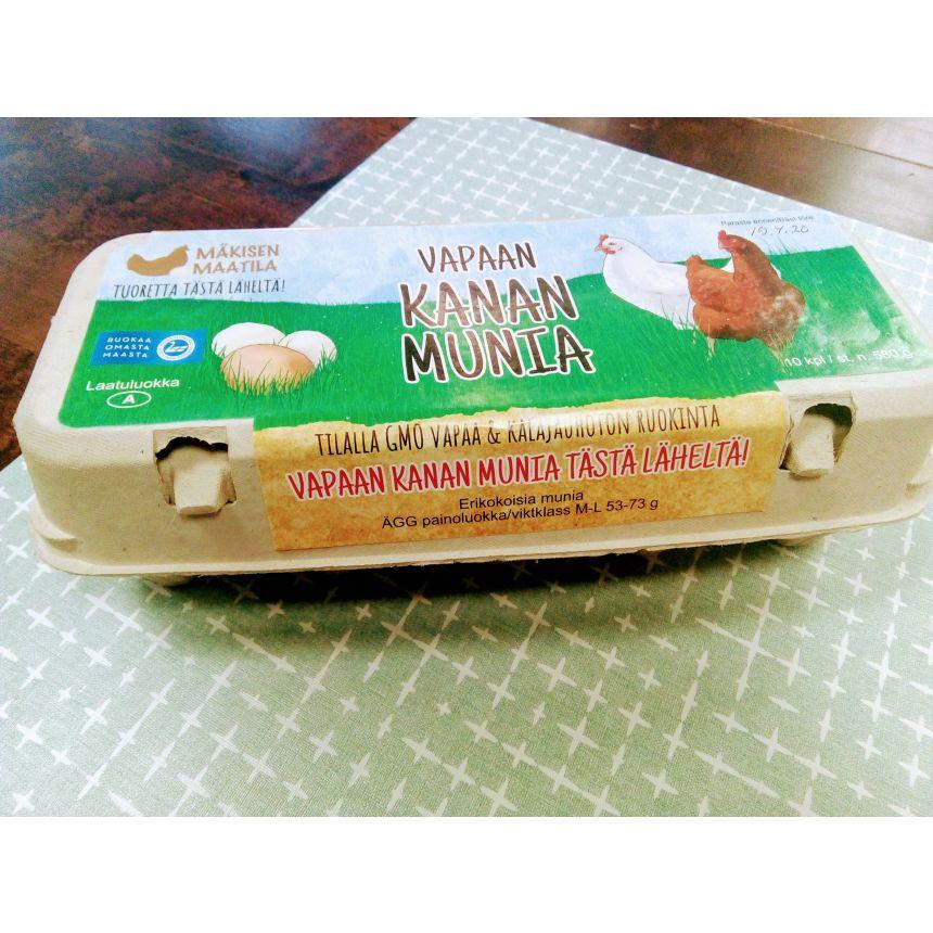 Mäkisen kananmunat 10 kpl/rasia